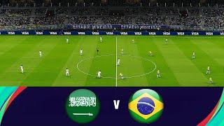 SAUDI ARABIA vs BRAZIL - 3 Free Kick Goals - Full Match All Goals HD - eFootball PES 2021 Gameplay