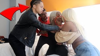 CAUGHT WITH KIANNA PRANK ON TRAY AND PRIME ** HES UPSET  **