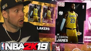 98 OVERALL PINK DIAMOND LEBRON! ROOKIE PACKS! NBA 2K19
