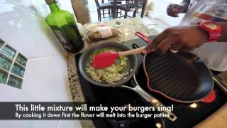 How to make a Super Garlic Cheese Burger