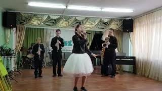 """J.Brown """"I Feel Good"""", E.James """"Good Looking"""". Exprompt Jazz Band"""