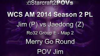 SC2 HotS - WCS AM 2014 S2 PL - Jim vs Jaedong - Ro32 Group E - Map 2 - Merry Go Round - Jim