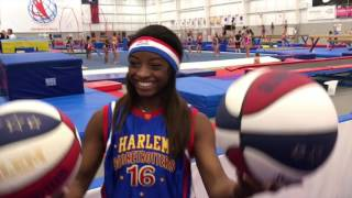 Simone Biles tries to be a Harlem Globetrotter!