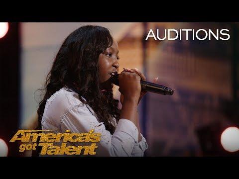 Flau'jae: 14-Year-Old Performs Emotional Rap About Gun Violence - America's Got Talent 2018