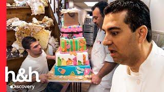 Reacción de Buddy al enterarse que dejaron caer un pastel listo | Cake Boss | Discovery H&H