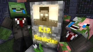 Monster School: Herobrine DIES - Scary Minecraft Animation