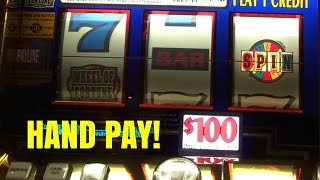 HAND PAY! HIGH LIMIT 3K SLOT MACHINE PULL-LIVE PLAY