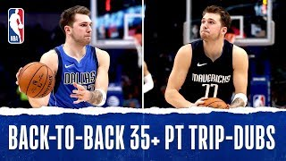 Luka Becomes Youngest IN HISTORY With Back-To-Back 35+ PT Triple-Doubles