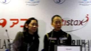 2010 worlds  Ladies sp press conference Mao Asada Mirai Nagasu Laura Lepisto.avi