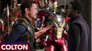 Is Tony's new Iron Man suit made of Vibranium in Avengers Infinity War?