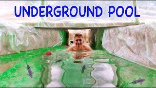 UNDERGROUND SWIMMING POOL WITH FISHES - DIY