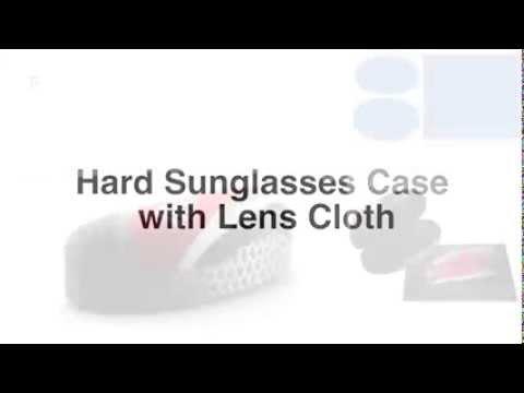 LL0709i Hard Sunglasses Case with Lens Cloth - JS011