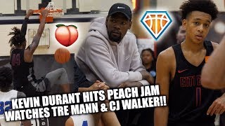 KEVIN DURANT WATCHES TRE MANN GO OFF at Nike Peach Jam!! | + CJ Walker's STOCK IS SOARING