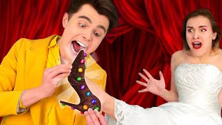 SWEET WAYS TO SNEAK CANDY INTO A FASHON SHOW || Funny DIY Ideas! Snack Situations by 123 GO! SCHOOL