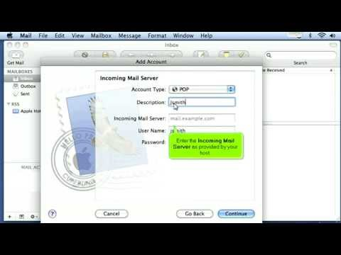 How to configure an email account in Apple Mail for POP3