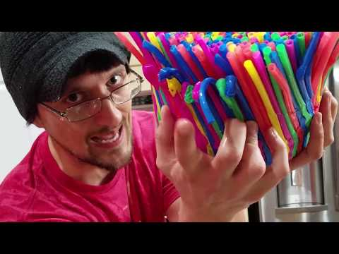 DIY Baby Chair of Straws!  (FUNnel Vision Gets Soggy Vlog)