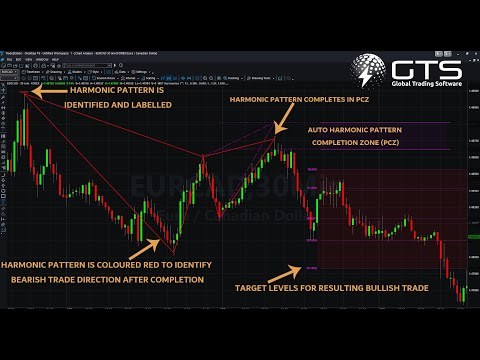 video Auto-Harmonic Pattern Recognition Trading Software for Tradestation