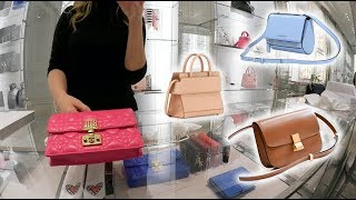 Dior, Celine & Givenchy Luxury Shopping Vlog Trying On Bags!😱