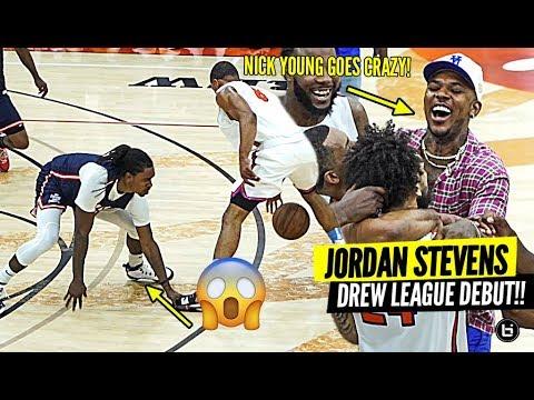 D2 BASKETBALL PLAYER CRAZY OT DREW LEAGUE DEBUT!! JORDAN STEVENS GOT NICK YOUNG GOING CRAZY!!