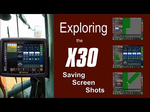 Topcon X30 Monitor - Saving a Screen Shot