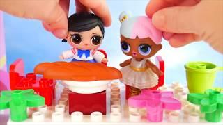 Nuevas Muñecas de bebe LOL Surprise Barbie y Sus Hermanas Rutina de Lego Jugando en la Mañana!