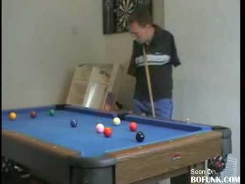 Snookerzysta bez rąk!