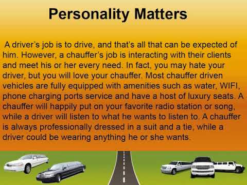 Difference Between A Driver And A Chauffeur