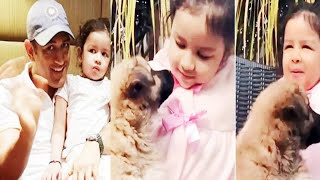 Viral Video: MS Dhoni & Daughter Ziva Playing With Pup..