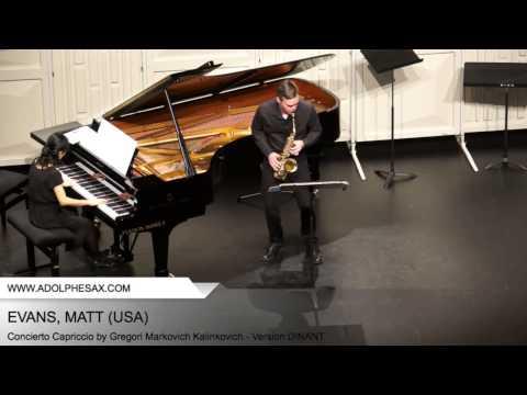 Dinant 2014 - Evans, Matt - Concerto Capriccio by Gregori Markovich Kalinkovich