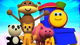 tàu động vật bob   video trẻ em   động vật cho trẻ em   Bob The Train Animals   Learning Video