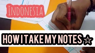 How I Take My Notes |Note Taking By Me|Indonesia