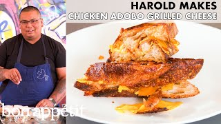 Harold Makes Grilled Cheese with Chicken Adobo | From the Home Kitchen | Bon Appétit