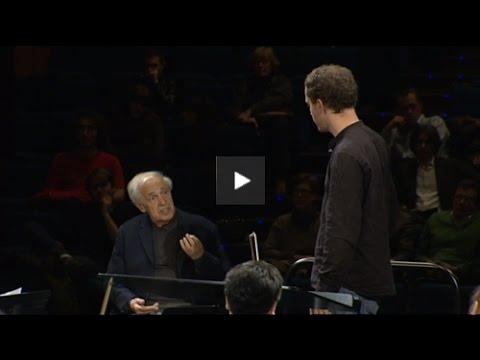 Master-class Pierre Boulez - 1ère partie