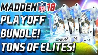 PLAYOFF PACKS! TONS OF ELITES! FALCONS WIN! - Madden 18 Ultimate Team
