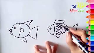 Dạy bé vẽ con cá - How to draw a fish