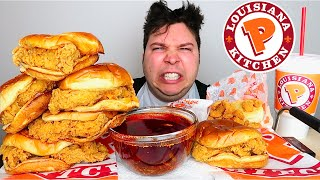 this is why i HATE HER..!!!!! (popeyes spicy chicken sandwich with Bloves sauce) • MUKBANG