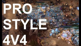 Pro Level 4v4 BEST OF 7!!! - StarCraft2 - Legacy of the Void 2018
