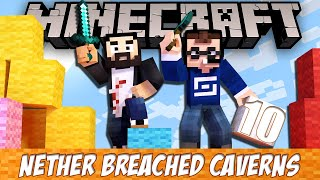 Minecraft Nether Breached Caverns - EP10 - The Mines!
