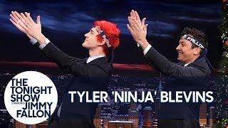 "Tyler ""Ninja"" Blevins Teaches Jimmy the Pon Pon Dance"