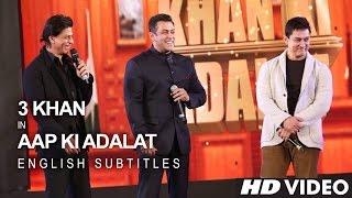 Shah Rukh KHAN, Salman KHAN & Aamir KHAN - 21 Years Of AAP KI ADALAT (English Subs)