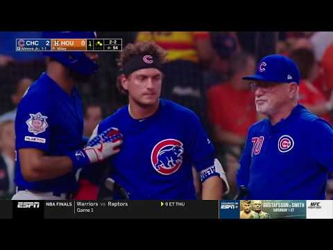 Albert Almora Jr in Tears after striking Little Girl with 100 MPH Foul Ball