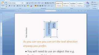 Change Text Direction in Word 2007/2010