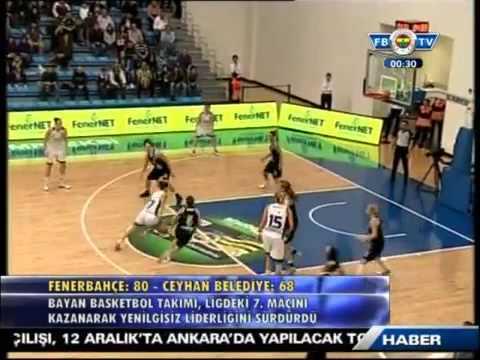 Fenerbahçe 80 - 68 Ceyhan Belediyesi Maçı Özeti 2 Aralık 2012