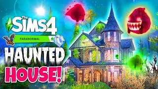 Sims 4 PARANORMAL - Abandoned Haunted House Build! 👻