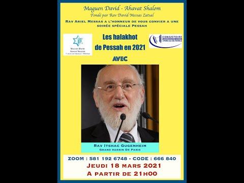 Exposé halakhique sur les lois de Pessah du grand rabbin de Paris Rav Itshac Gugenheim