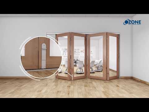 <span>Sliding Folding Door System With Wooden And Framed Doors</span>