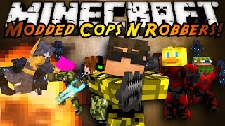 Minecraft Mini-Game : MODDED COPS N ROBBERS! HALO!