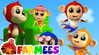 năm con khỉ nhỏ | vần cho trẻ sơ sinh | Five Little Monkeys | Preschool Song | Children Rhyme