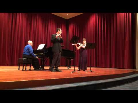 Doppler Rigoletto Fantasie for Two Flutes, SFSU Flute Studio Recital 2014. First flute, Abby Green. Second flute, Sean Kelly.