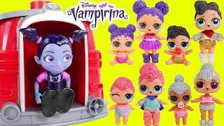 Vampirina finds Glitter LOL Surprise Dolls Lil Sisters